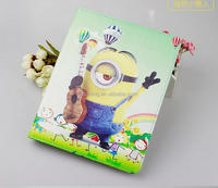 For iPad Air 2 iPad Air iPad 2 3 4 Despicable Me 2 Minions Rotation PU Leather Case Cover