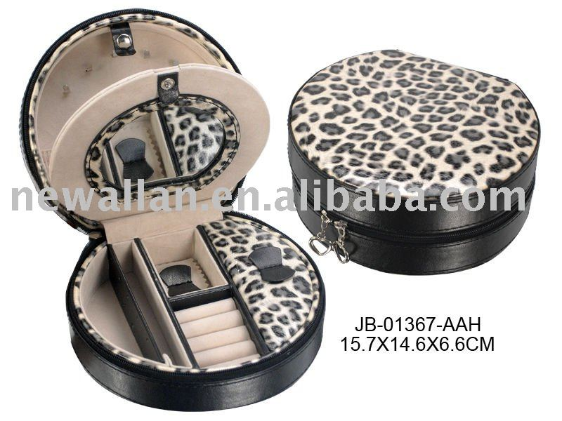 2017 Leopard Pattern PU Jewelry Box with Wild Taste