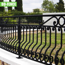 Security white wrought iron fence