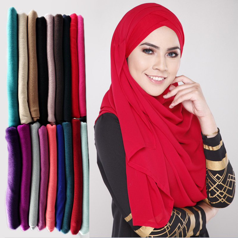 Fashion beauty women one piece instant shawl hijab muslim hijab scarf