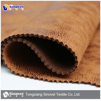100% polyester suede fabric,adhesive backed fabric velvet,synthetic leather suede bonded faux fur fabrics