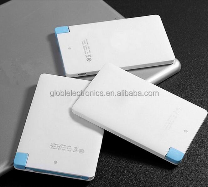 Shenzhen Mobile Power Supply,Super Slim Credit Card Power Bank 2500mah