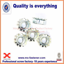 Stainless steel keps lock nut with external tooth lockwasher