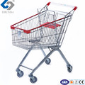 80L metal shopping cart trolley with European style