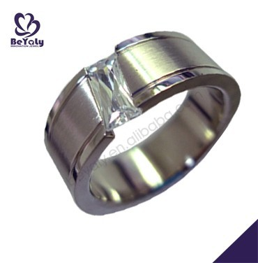 2015 cheap price jewelry 316l stainless steel black sapphire ring