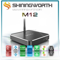 Factory new full hd 1080p watch free video channels ip tv box M12 plus andriod 5.1 s905 aluminum mxq tv box