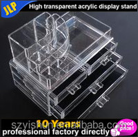 Cosmetic product acrylic display pallet in shopping mall