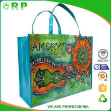 Market promotion customze recycled portable folding textile shopping bag