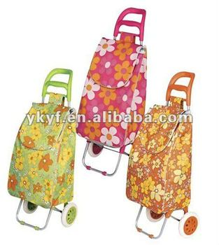 600D PVC folding Shopping Trolley bag