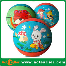 promotional size#1 rubber basketball, ,kids basketball cheap price