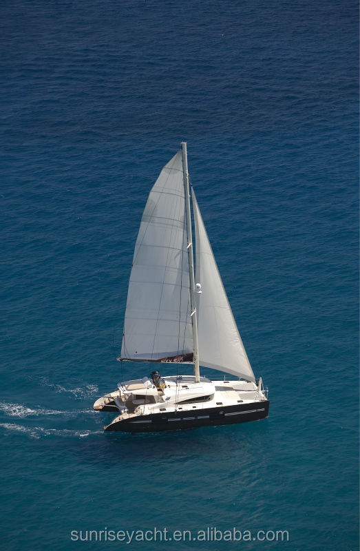 SUNRISE 57 Fiberglass Luxury Catamaran Sailing Catamaran With Mast For Sale