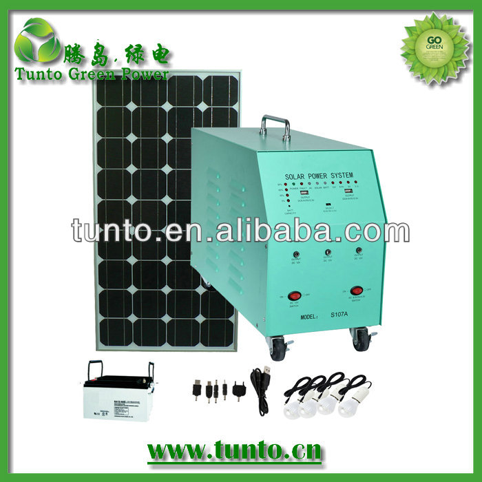 120W Off-Grid Solar System with LED, Solar Panel, Suitable for Home Use with 12V DC/3A Sum Current
