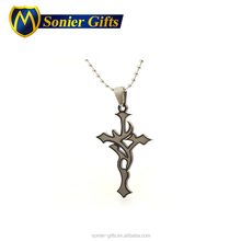 Custom turkish silver cheap cross cremation pendant jewelry