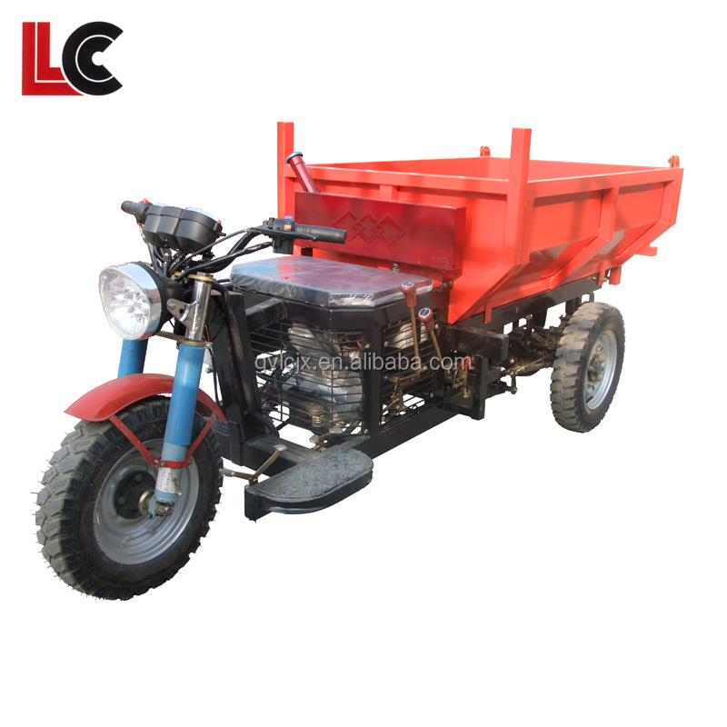 three wheels utility cargo motor tricycle / hydraulic cylinder for dumper