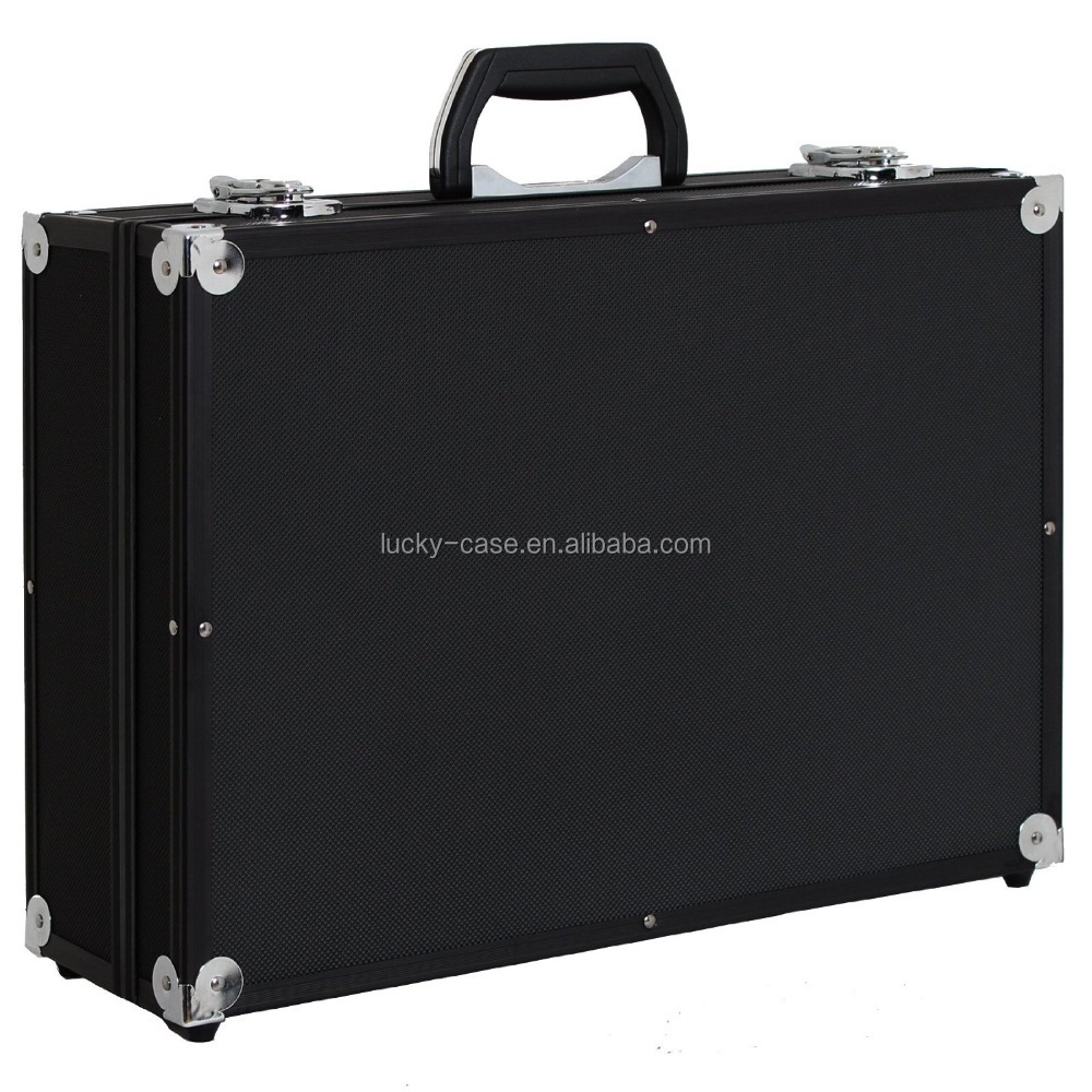 Heavy Duty Aluminum Tool Case Camera Metal Flight Case Padded For Digital SLR Cameras Black Hard Case