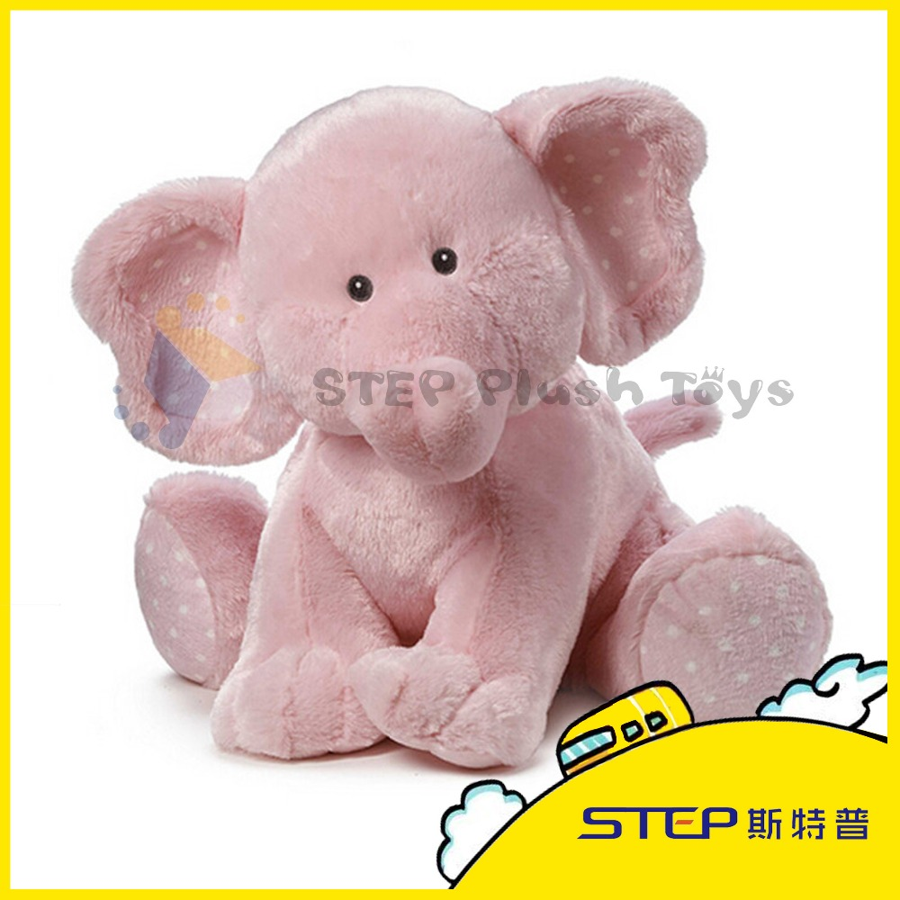 Pink High Quality Elephant Plush Toy Stuffed and Plush Animal Toy Nice Gift for Kids/lover