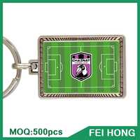 China Supplier souvenir for soprt event soccer keychain cheap giveaways