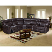 Home theater leather sofa set, L shape corner reclining sofa cover