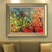 China factory wall Art Embossed art canvas Painting wood frame Gold color