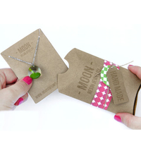 kraft paper display cards and tags jewelry pillow boxes