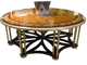 Luxury Elegant French Flower Coffee Table, Full Handmade French Furniture with Marquetry Veneer Inlay BF11-09282d