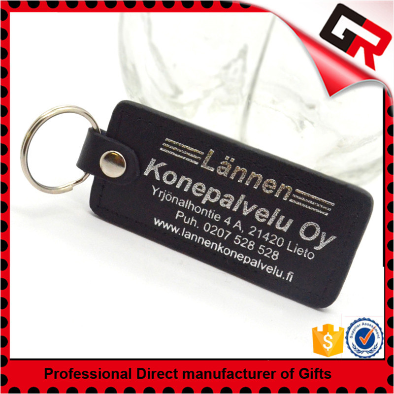 Best selling metal leather fob key ring