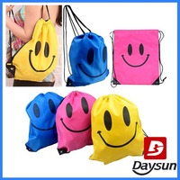 Face Drawstring Bag Mochila Swimming Bags School bags Cartoon Kids Backpack Fashion
