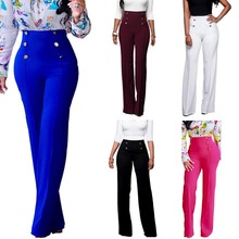 B31889A 2017 Fashion Women soft slim Fitting pants stretch ladies bell-bottoms casual trousers
