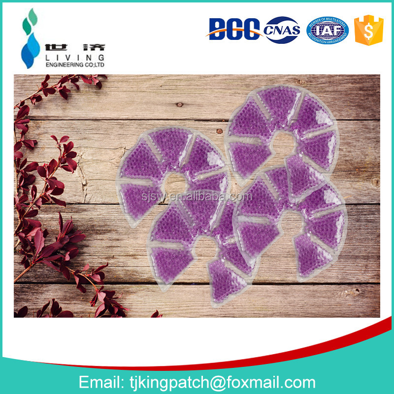 2017 hot product Breast hot cold compress pad gel beads hot cold pack