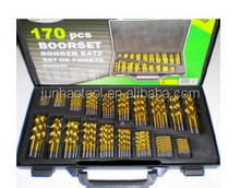 HSS 170PCS DIN338 Jobber Length Titanium Coated Drill Bit Set