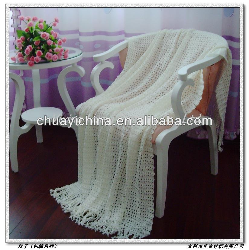 chunky knit Acrylic throw blanket