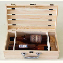 Professional factory supply Original 3 bottle wooden wine box