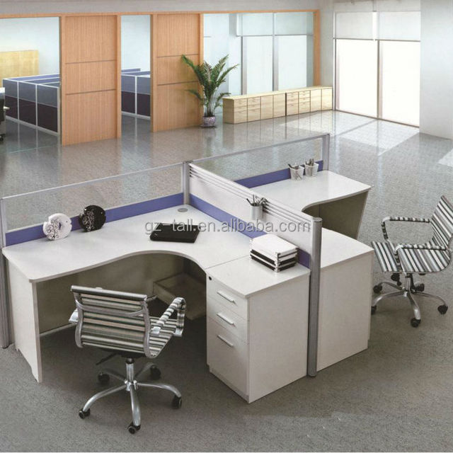 Wholesale 2 Person Modern Modular Office Workstation Office Desk With  Partition