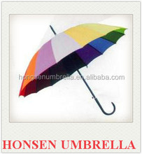 China factory unique design arts and crafts innovative pink flower straight umbrella Honsen