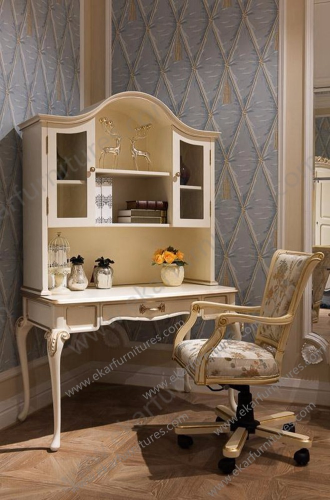 Indian white dresser furniture dressing table with drawers , wood bedroom furniture