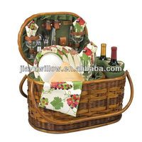 2015 best price wicker picnic baskets for sale