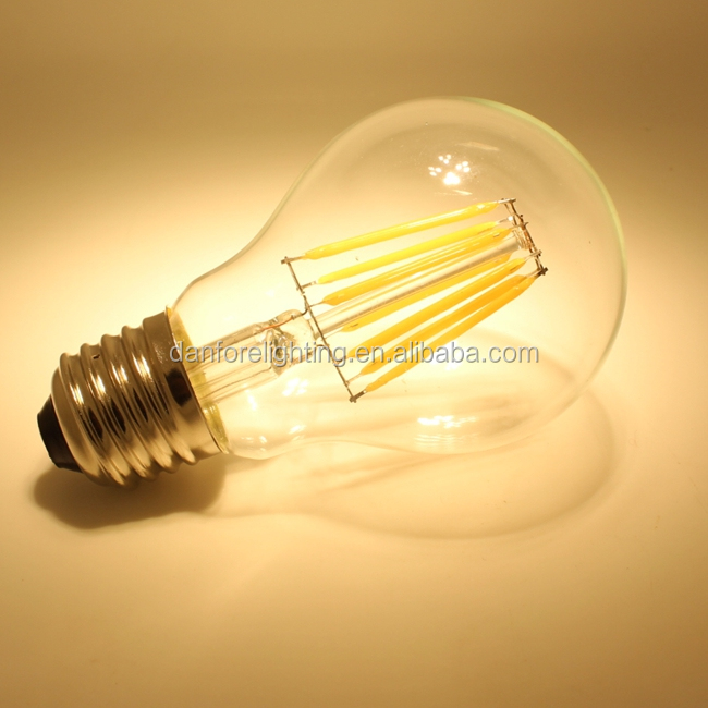 E27 B22 A60 a19 6.5W Dimmable vintage lamps LED Filament bulb