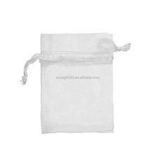 White Organza Drawstring Pouches Jewelry Wedding Favor Gift Bags 6cm x 8cm