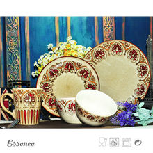 New style ceramic luxury nice design spanish dinnerware
