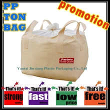 100% pp woven ton bag 1000kg for sand cement and chemical,1 ton jumbo bag, FIBC, bulk bag jute sacks factory in shandong china