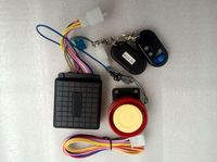 Motorcycle Alarm System Remote Engine Start Water Resistant ECU with LCD Transmitter Motorcycle Locating