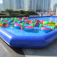 Shallow water or inflatable pool use one person paddle boat for factory direct sale