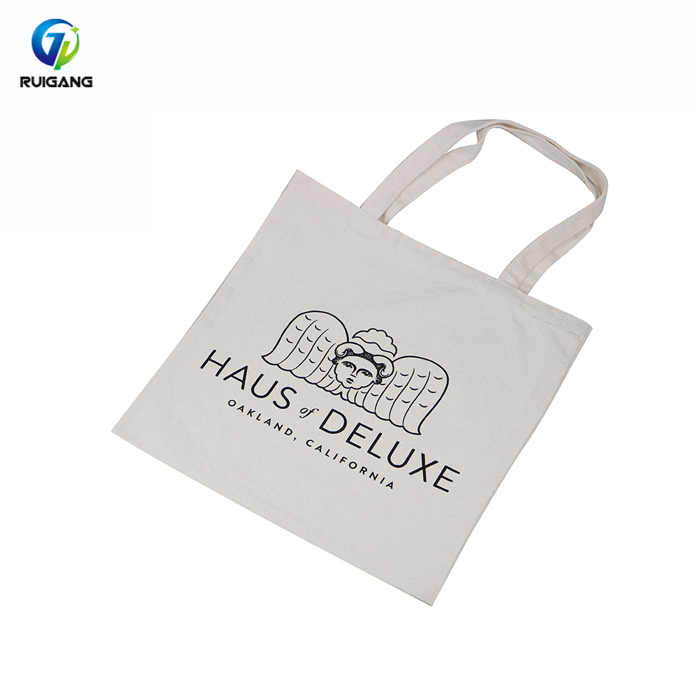 Close to nature organic tote cotton bag with cord