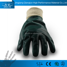 Cheap pvc coated water and oil proof hand protection work gloves