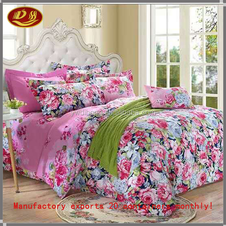 Wholesale bedding set Soft Fabric Plaid Bedding Set, Polar Leopard Solid Printed 100% Polyester Warm and Cool Home Textile