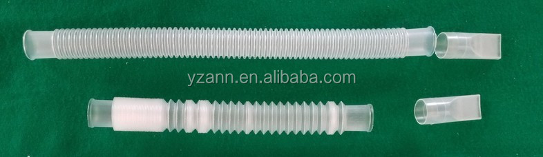 Nontoxic PP transparent medical use disposable plastic respiratory tube,pipe,hose