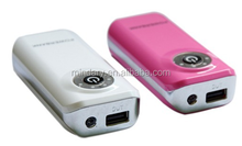 5200mAh Portable Powerbank/Backup Mobile Power with LED button