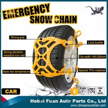 TPU passenger car lock buckle snow ice tyre grip traction tracks
