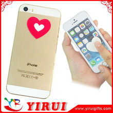 YS116 heart shape self adhesive microfiber sticker screen cleaner for iphone