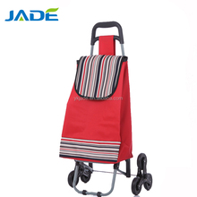 China supplier foldable hand cart 3 wheels trolley cart Hot sale fashion stair climber shopping trolley